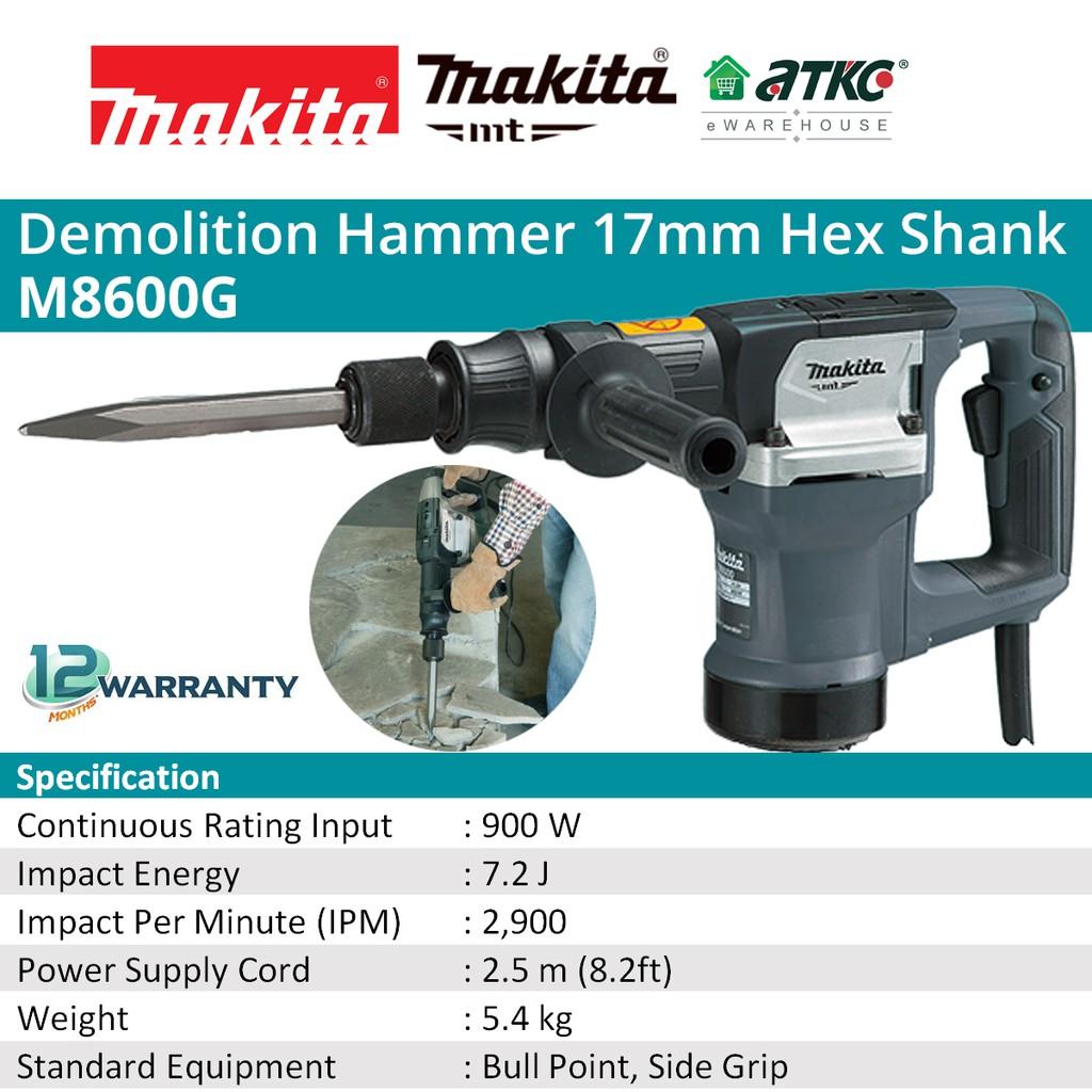 MAKITA M8600G Demolition Hammer 17MM 900W