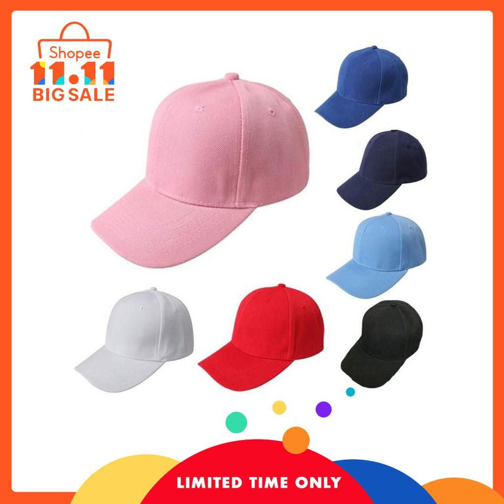 e2f7d71ece9 HST Baseball Cap Blank Hat Solid Color Adjustable Hat