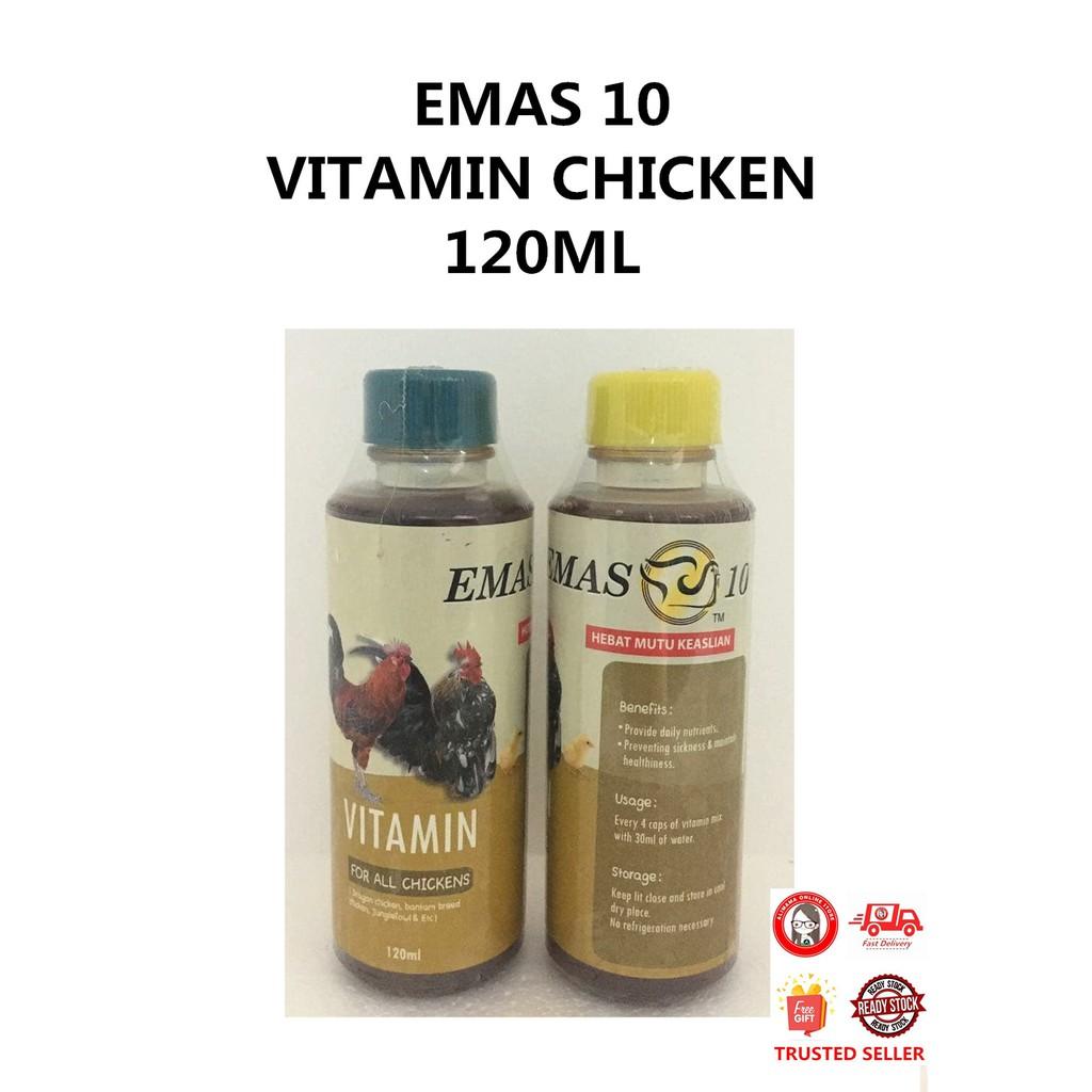 EMAS 10 VITAMIN CHICKEN / VITAMIN AYAM 120ML