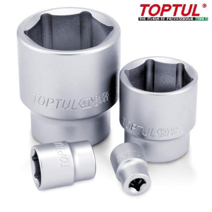 """TOPTUL 3/4"""" Dr. Standard Length Hand Socket 6PT/12PT"""