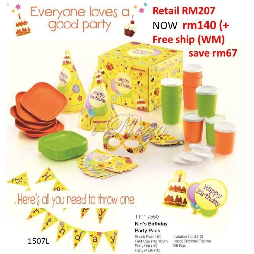 Tupperware Kids Party Set