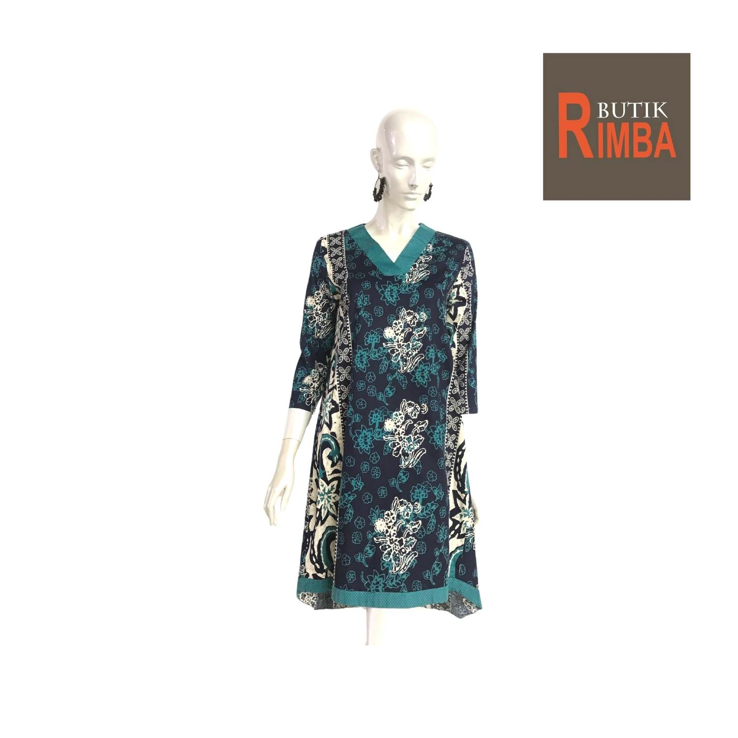 MODERN DRESS BATIK COTTON STRETCHABLE KNEE LENGTH FREE SIZE FOR FASHIONABLE WOMEN IN MIND 10