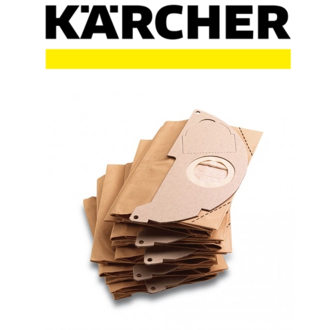 KARCHER 5 PCS x Paper Filter Bags for MD2.250/ MV2 Vacuum Cleaner 6.904-322.0 Easy To Use Save Time Vacuum Cleaner Part
