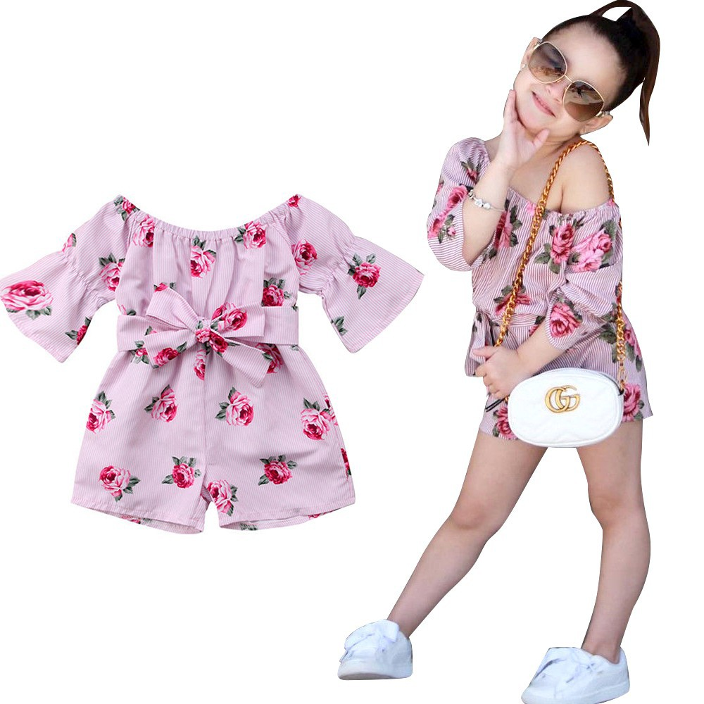 6a14b73d10953 MGA-Pretty Toddler Kids Baby Girl Romper Floral Bodysuit Sunsuit Playsuit