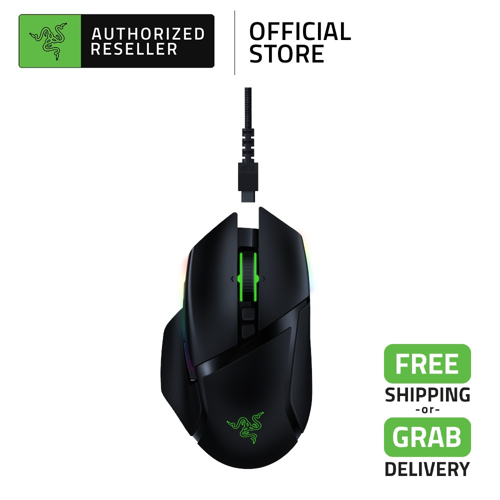 Razer Basilisk Ultimate Wireless Gaming Mouse with 11 Programmable Buttons