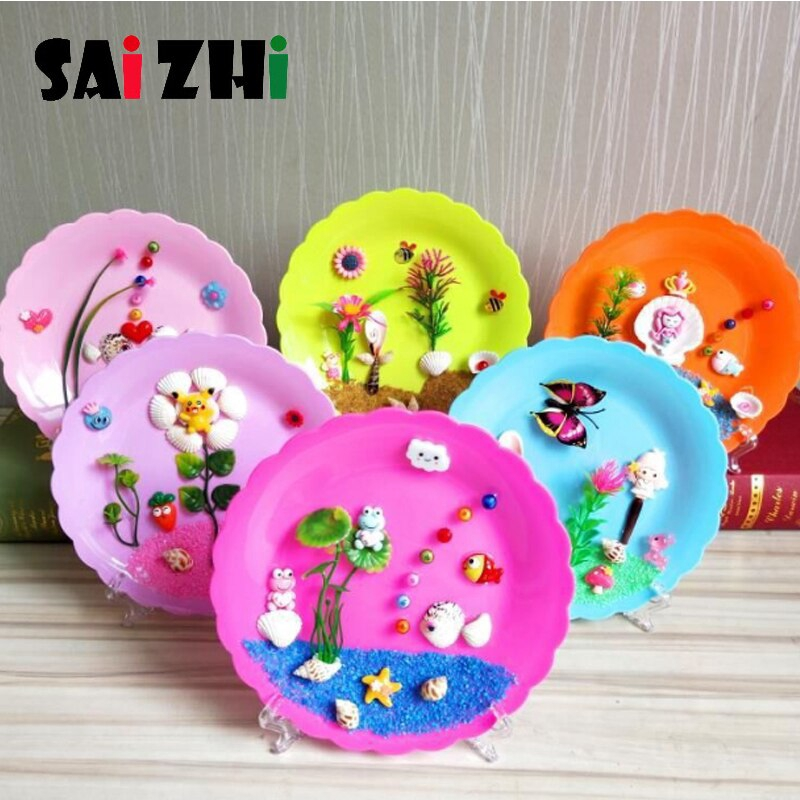 Saizhi Children 3d Handmade Art Crafts Shell Painting Educational Diy Adhesive Natural Conch Stickers Box Toys 36e2 Shopee Malaysia