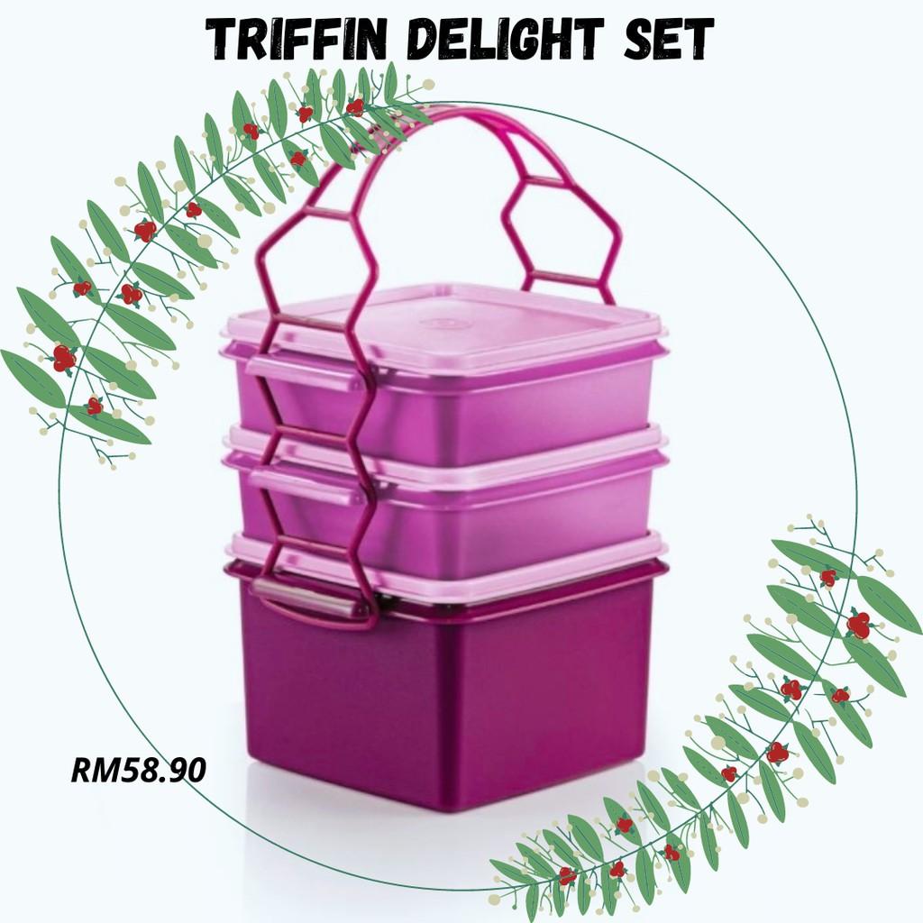 READY STOCK | Tupperware Triffin Delight Set | Food Storage | Mangkuk Tingkat