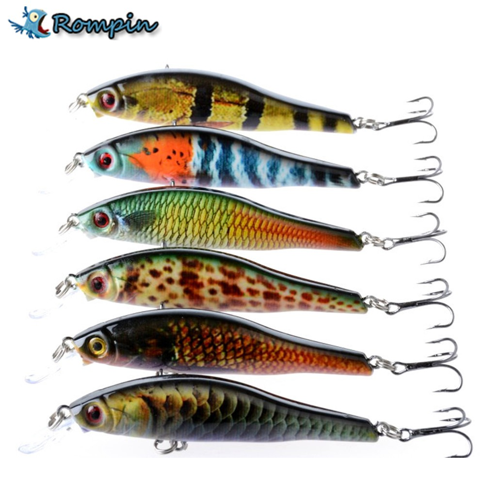 13cm 35g Sinking Minow Fishing Lure Hard Bait with Treble | Shopee Malaysia