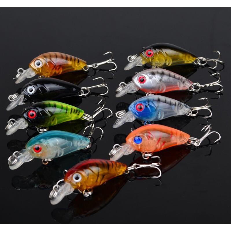 New Lot 1pcs 9# Plastic Fishing Lures Bass CrankBait Crank Bait Hook Tackle