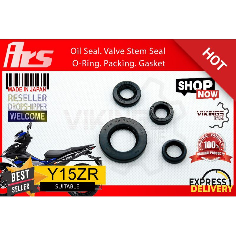 Y15ZR Y15 100% Original authentic JAPAN ARS oil seal set Y15ZR