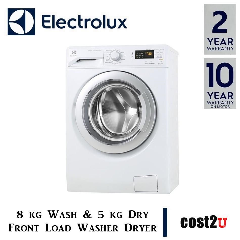 ELECTROLUX VAPOUR CARE WASHER DRYER (8KG/5KG) | EWW12853