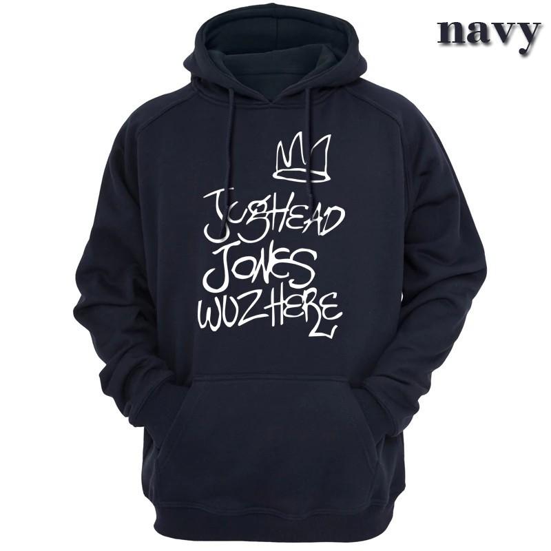 Jughead Jones Wuz Here Men/'s Black Hoodie Riverdale