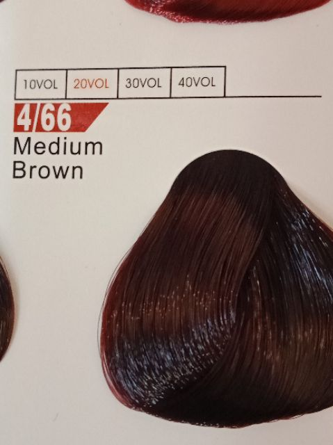 Fabaole color (Medium Brown.4/66) 100ml foc peroxide cream 100ml(Medium Brown.4/66)