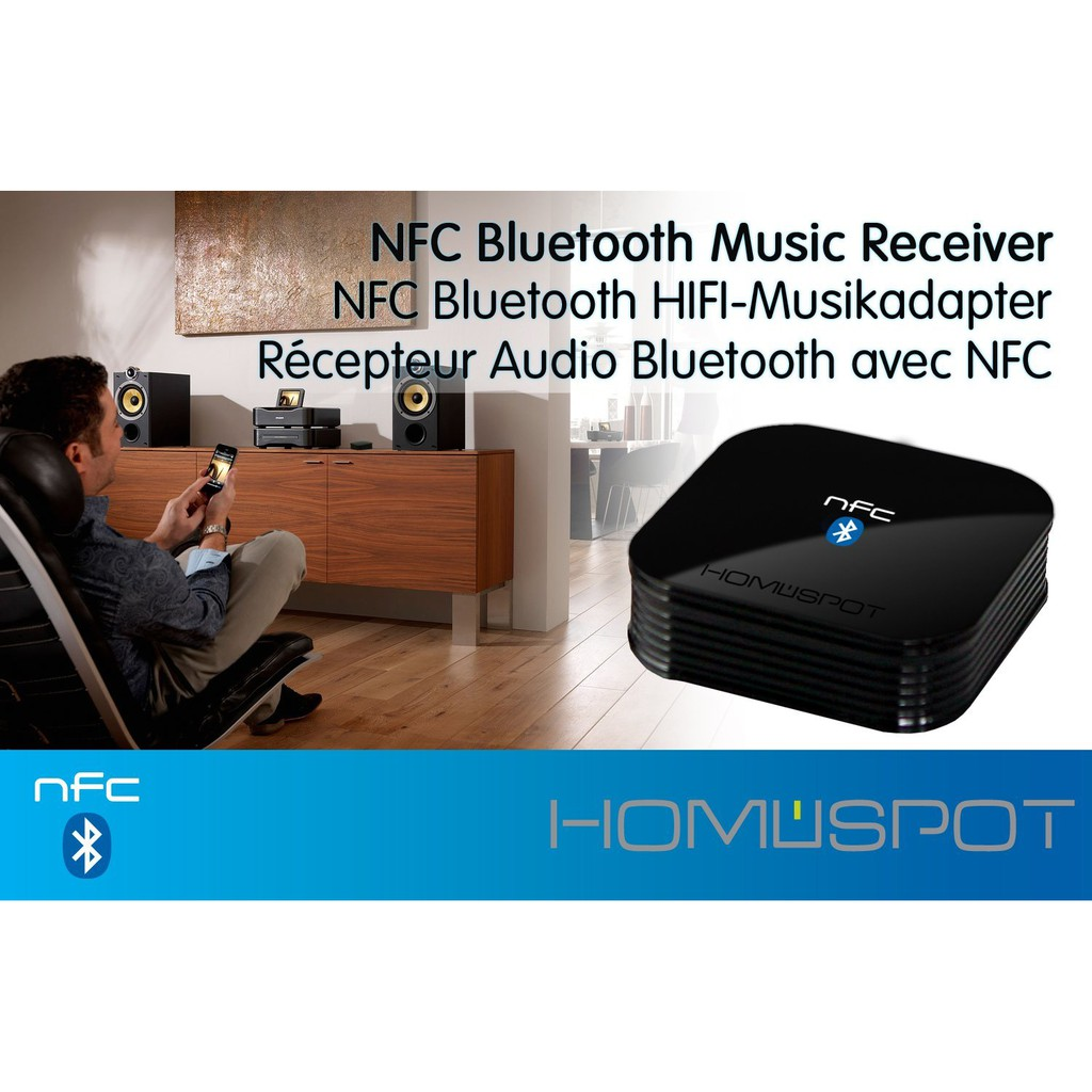 HomeSpot NFC-enabled Bluetooth Audio Receiver for Sound System ...