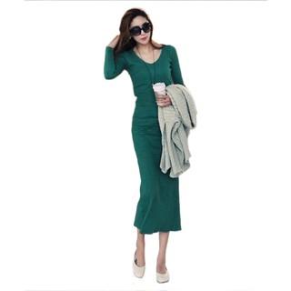 18e82cd5bf7 Korean Women Dresses Sexy V Neck Floral Dress Loose Long Sleeve Maxi Dress