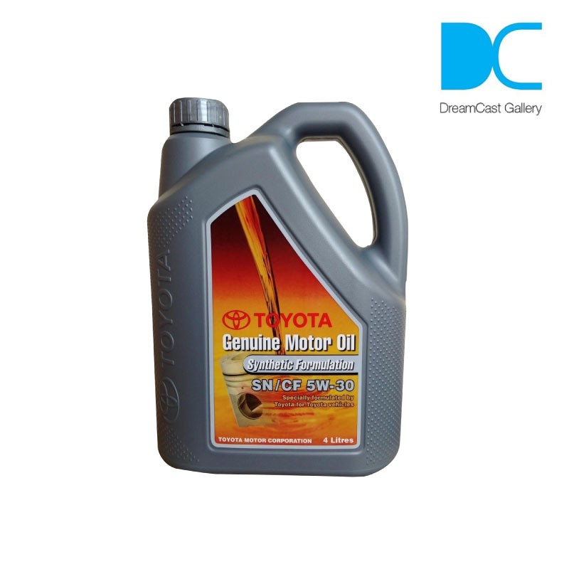 Toyota SN/CF 5W-30 Genuine Motor Engine Oil Synthetic Formulation - 4 Litre