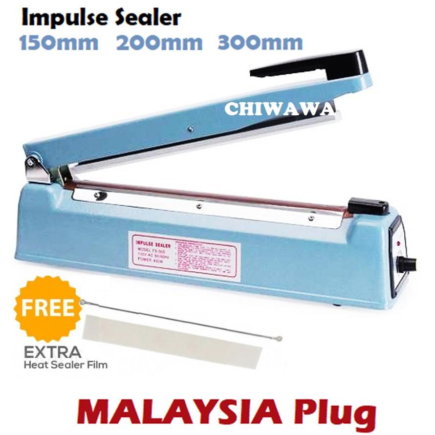 【Malaysia Plug】Impulse Sealer Film Plastic Poly Bag Seal / Mesin Pengedap