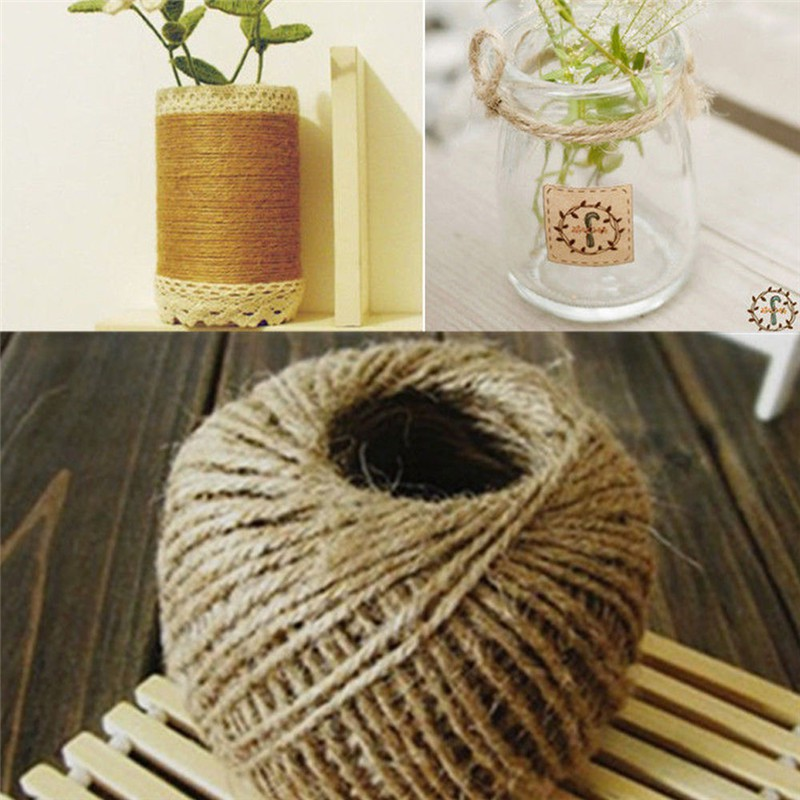 NEW 30M Natural Brown Jute Twine String DIY Shabby Style Rustic Shank Craft Jute