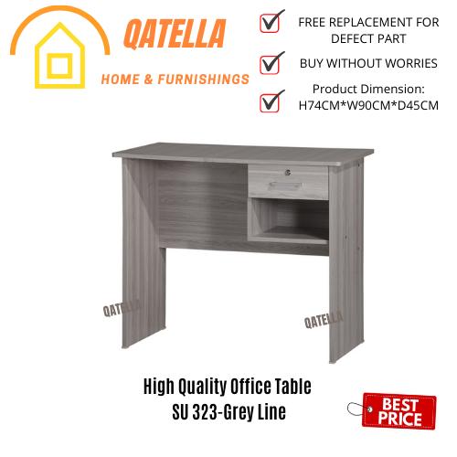 Qatella DIY Meja Belajar/Wooden Writing Study Table/Study Desk/Workstation/书桌/读书桌(SU 323/326)