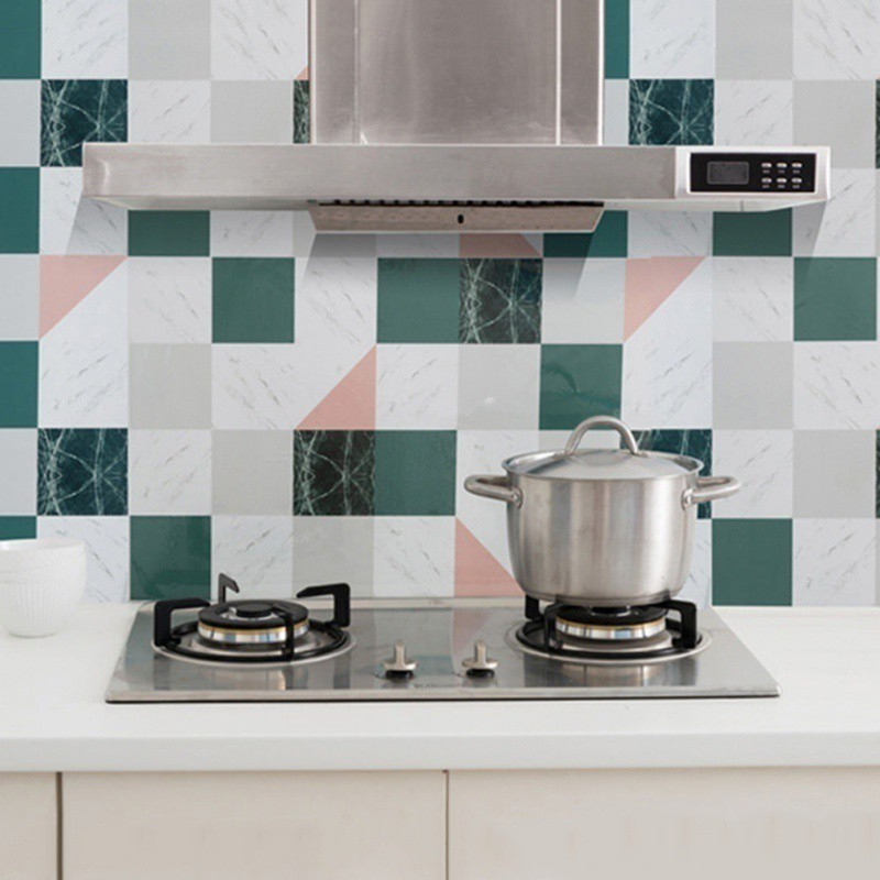 Awesome Ys Tile Stickers Home Decoration Indoor Kitchen Oil Fume Proof Wall Stickers Interior Design Ideas Truasarkarijobsexamcom