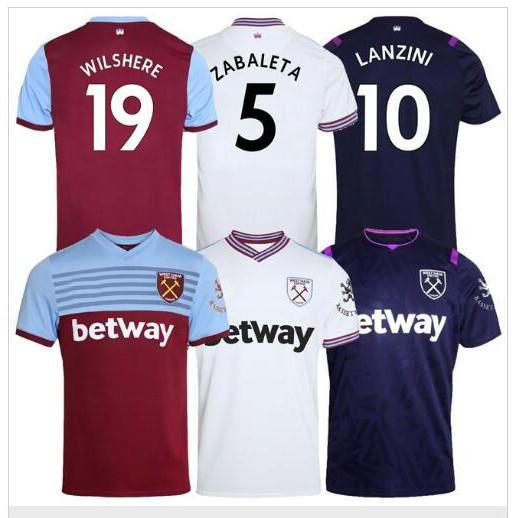 19 20 West soccer jersey Ham 2019 2020 United away third ...