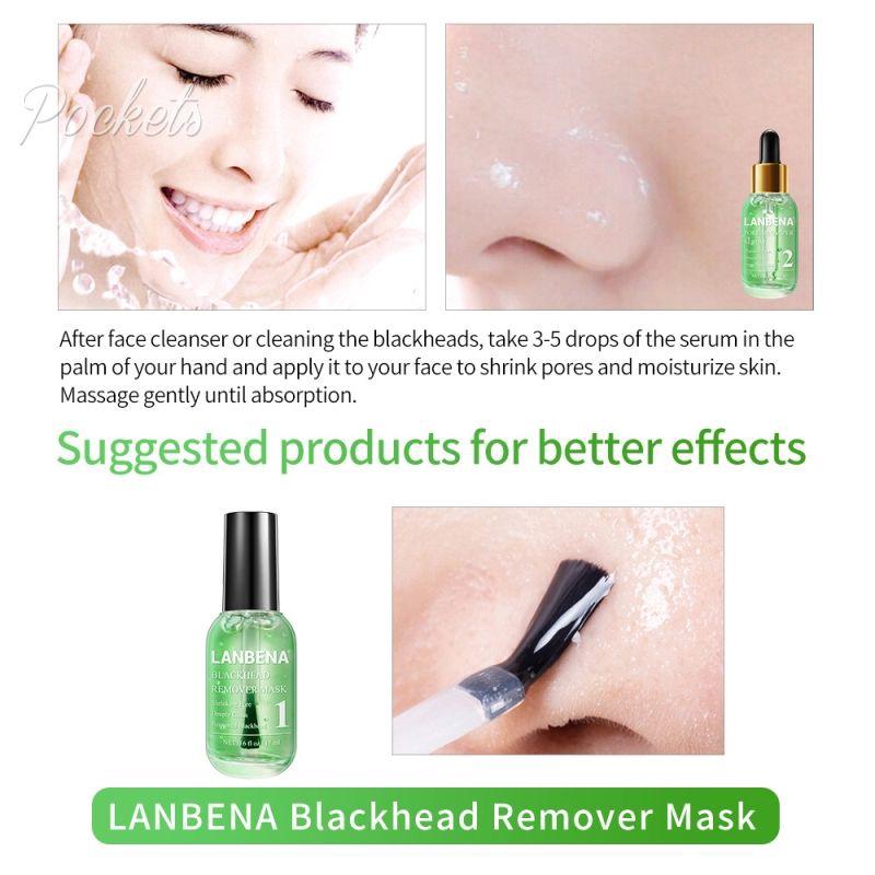 Lanbena Pore Minimizer Serum Removing Blackheads Peeling Acne