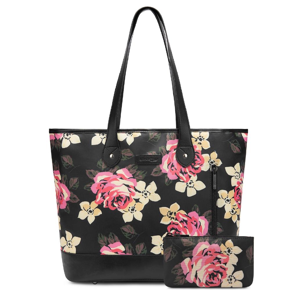 048caa735d0f UtoteBag Women 15.6 Inch Laptop Tote Bag Floral Pattern Notebook Shoulder  Bag