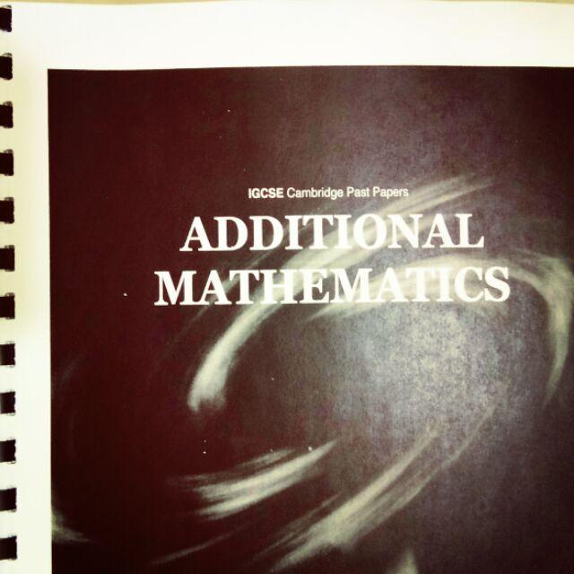 IGCSE Cambridge Past paper Additional Mathematics