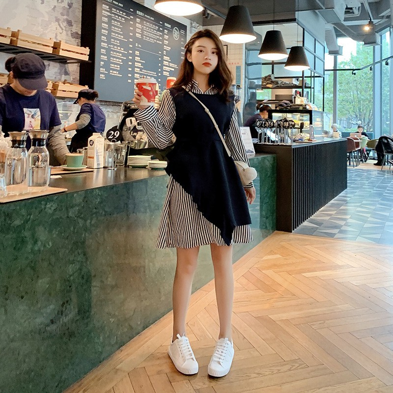 f70f142b82 ProductImage. ProductImage. Spring Female 2019 New Suit Skirt with Vest  Shirt Two-piece ...