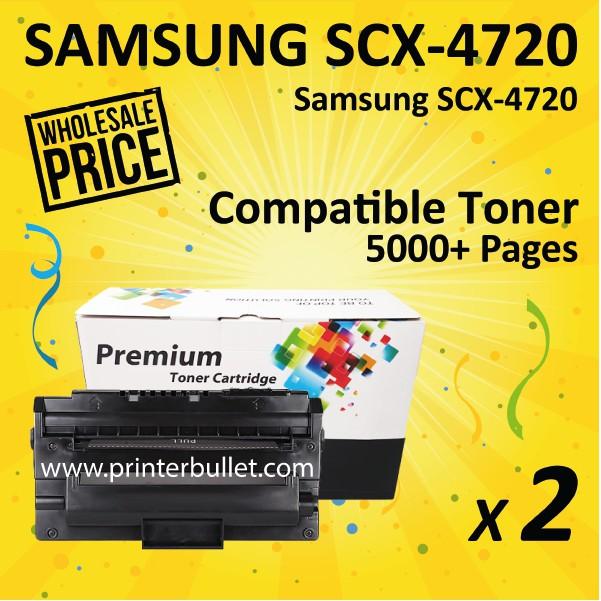 2 unit Samsung SCX-4720D3 / SCX-4720D5 HIGH YIELD Compatible Toner Cartridge