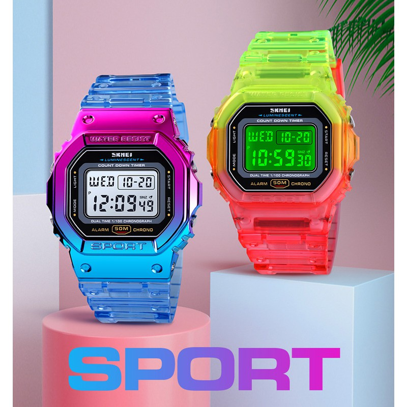 [ Local Seller ] SKMEI 1622 Creative Colorful Women's Watch Outdoor Sports Student Electronic Watch