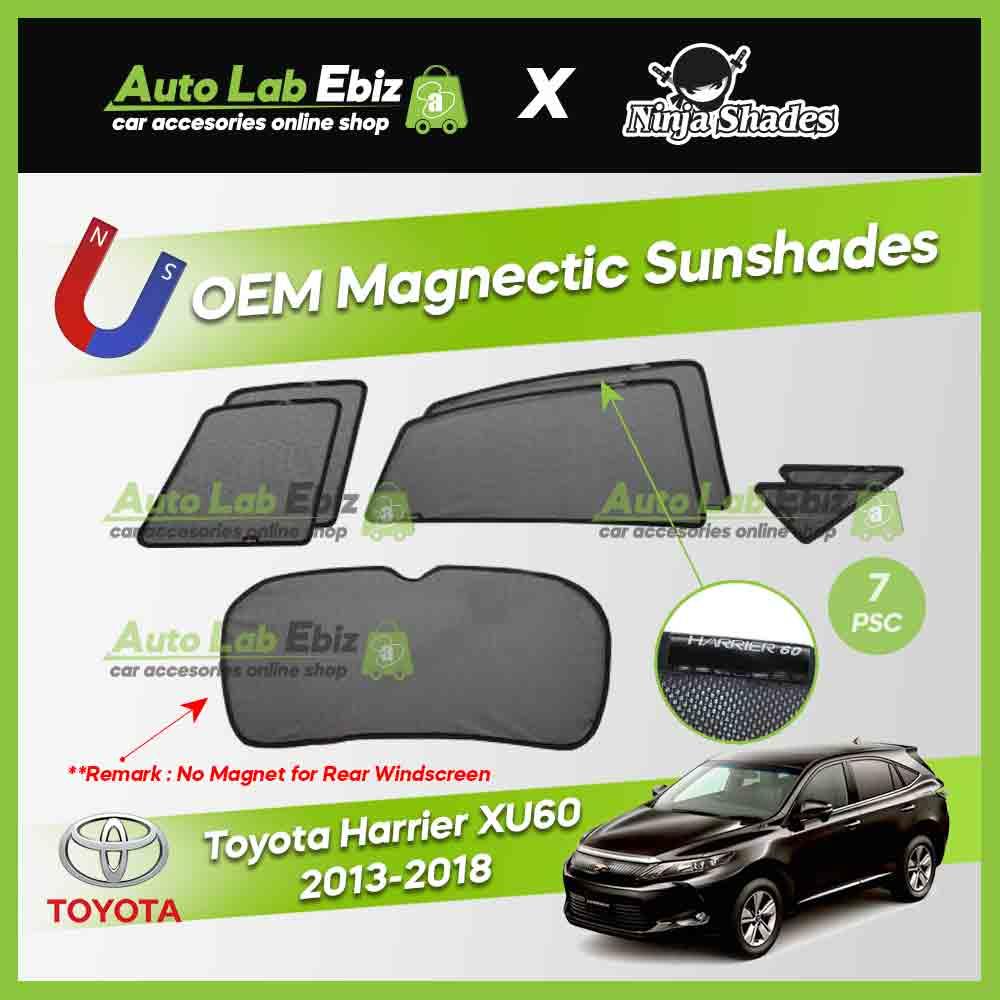 Toyota Harrier 60 Series/XU60 2013-2018 Ninja Shades OEM Magnetic Sunshade (7pcs)