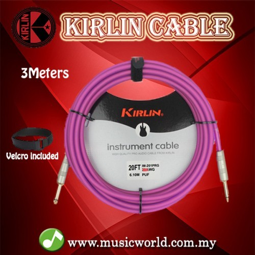 Elecric Guitar Kirlin 20ft Stage Series Instrument Cable Lead JACK-JACK Keys