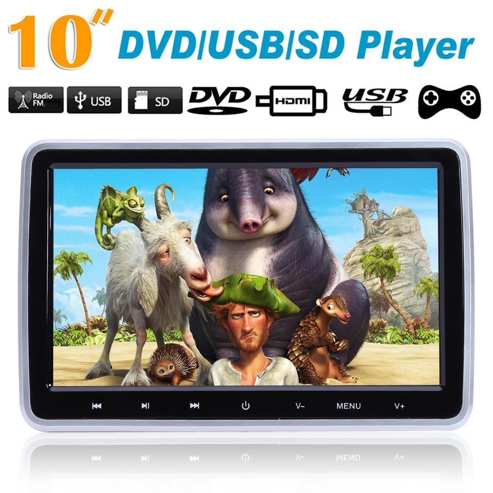 💥BEL💥HDMI 10 HD Digitl LCD Screen Car Headrest Monitor DVD/USB/SD Player