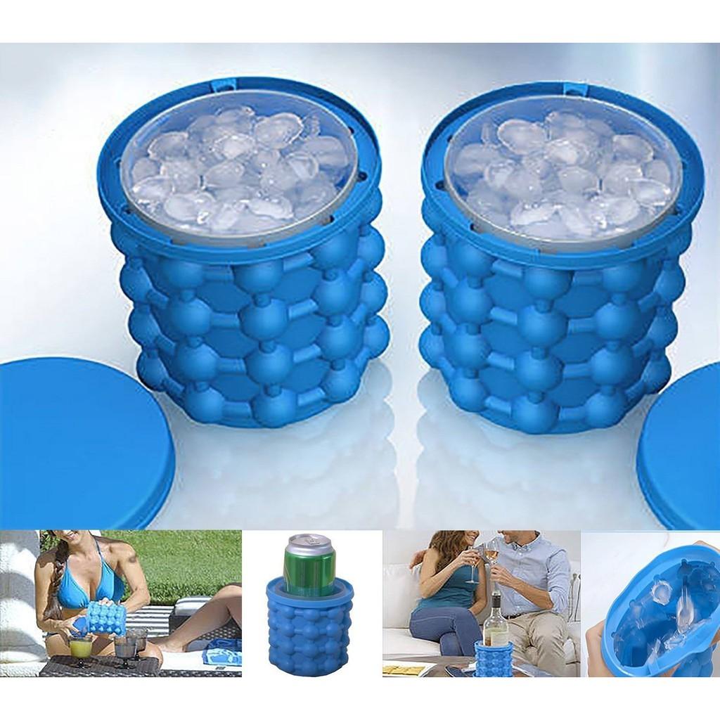 bac à glaçons en silicone révolutionnaire Bubble-Ice Bucket machine a glaçons