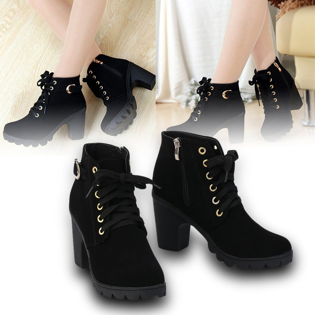 CICITOP New FASHION Women s Ankle Boots High Heels Sneakers(Yellowish sole)   e300b8f40f