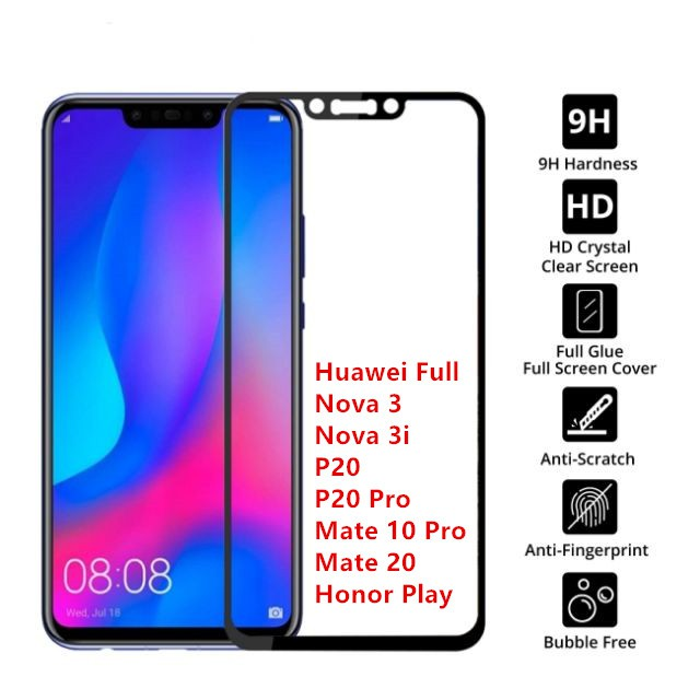 (Full&Normal) Huawei Nova 3 3i P20 P20 Pro Mate 10 Pro Mate 20 Honor Play Normal Full Tinted Tempered Glass Protection