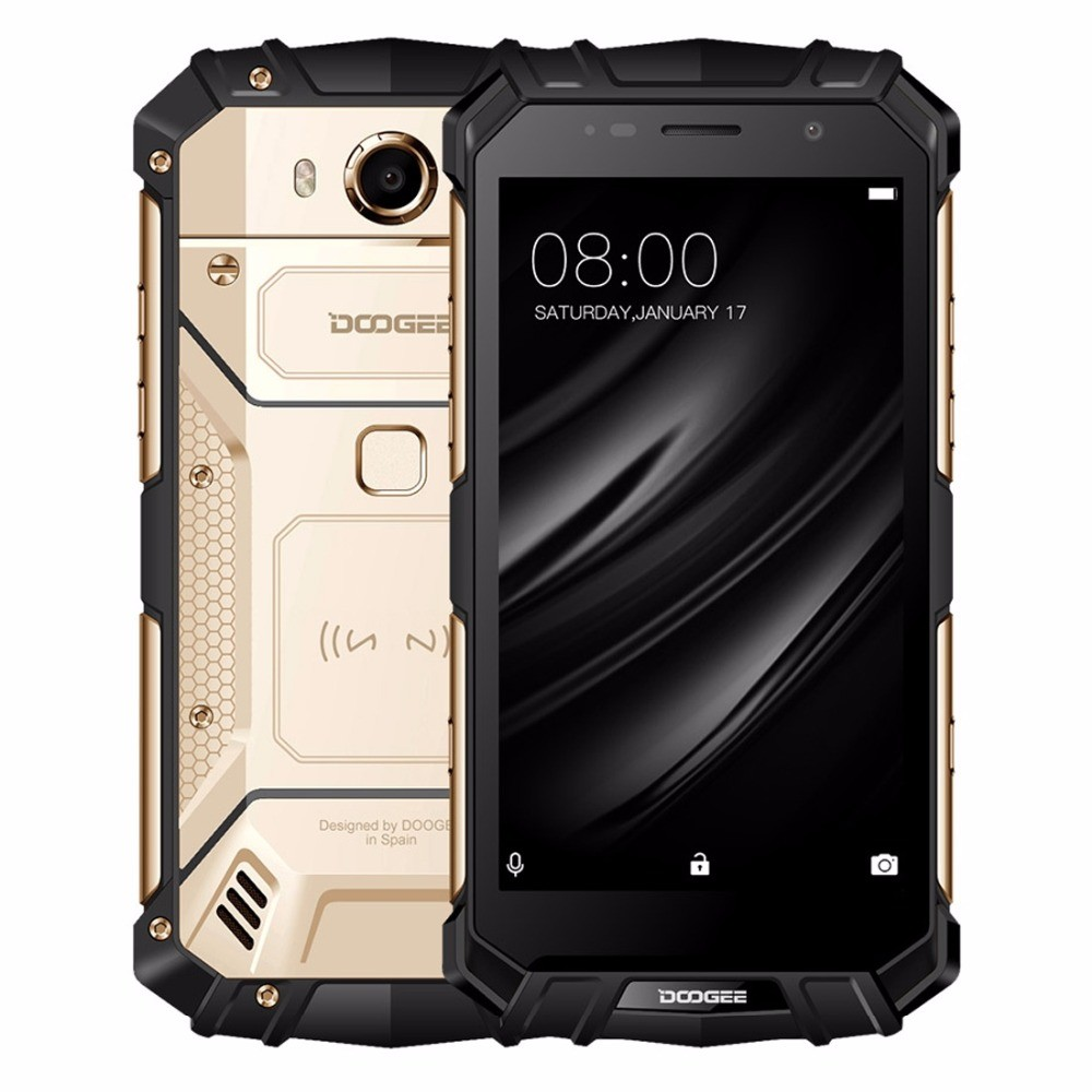 DOOGEE S60 Lite IP68 Waterpoof Mobile phone 4GB+32GB Fingerprint Android 7 0