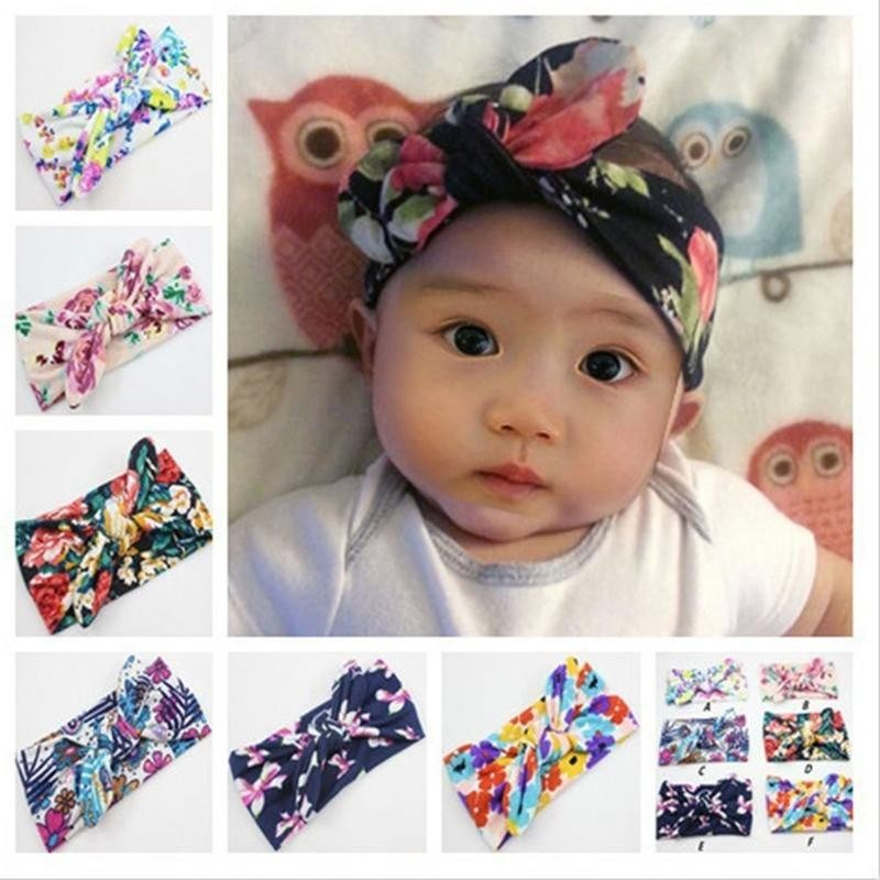 Baby & Toddler Clothing Aggressive Baby Toddler Girls Pink Floral Bowknot Hairband Turban Headband A Great Variety Of Models