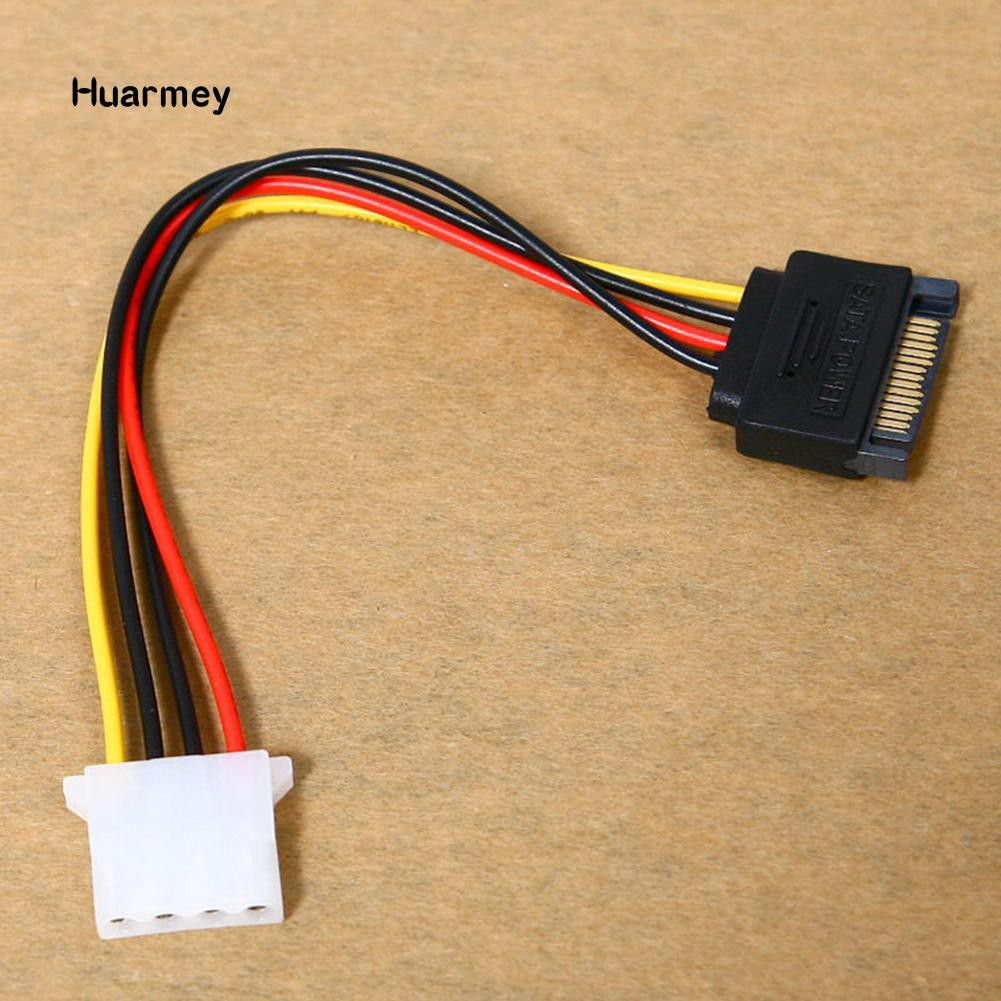 Universal 4 Pin IDE 1-to-2 Power Supply Y Splitter Extension Cable HU