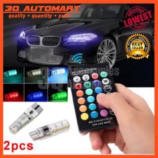 T10 5050 Remote Control Car Led Bulb 6 Smd Multicolor W5w 501 Side Light Bulbs
