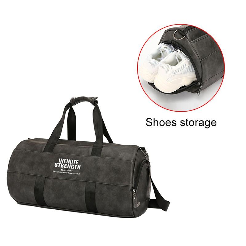 81e5ff794d Fashion Men Leather Travel Bag with Shoulder Strap Duffel Bag Luggage Beg