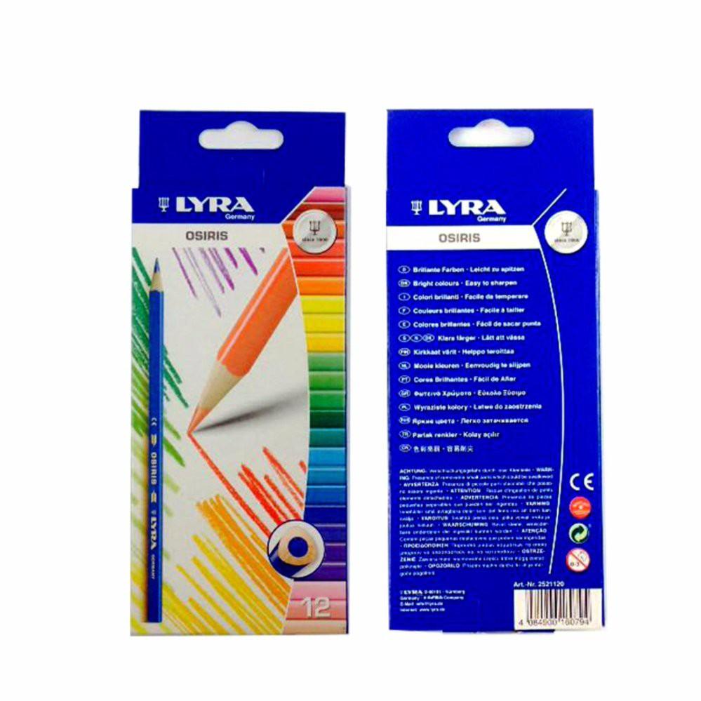 24 x Lyra Osiris color pencils  QUALITY GERMAN TRIANGULAR COLOUR PENCILS