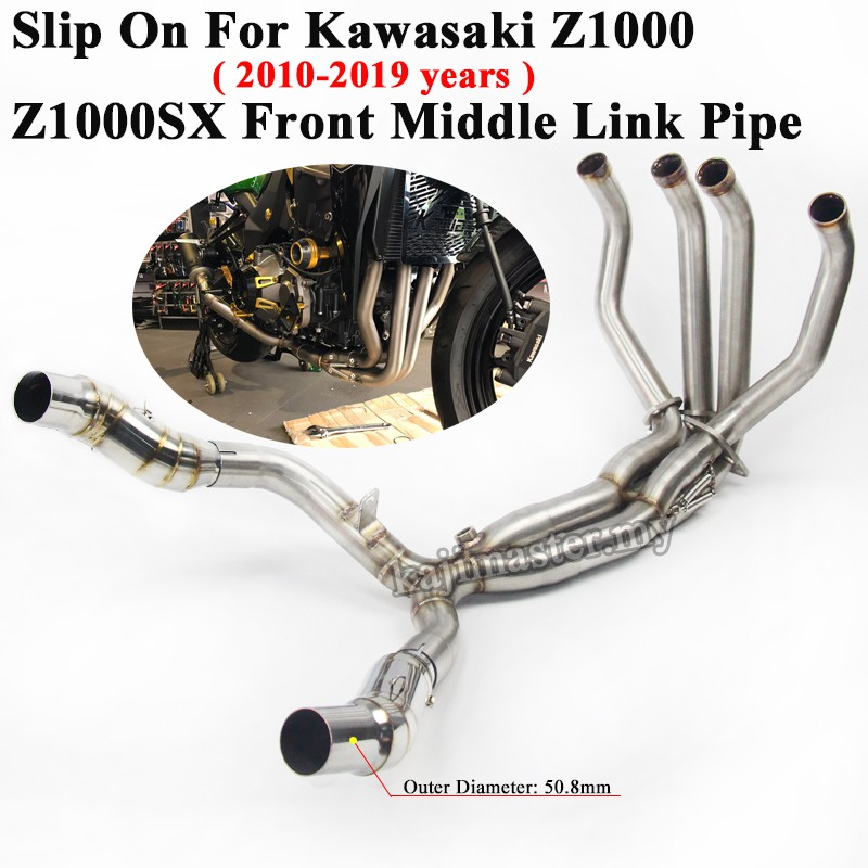 For Kawasaki Z800 Motorcycle Exhaust Pipe Middle Link Elbow Head Connect Tube