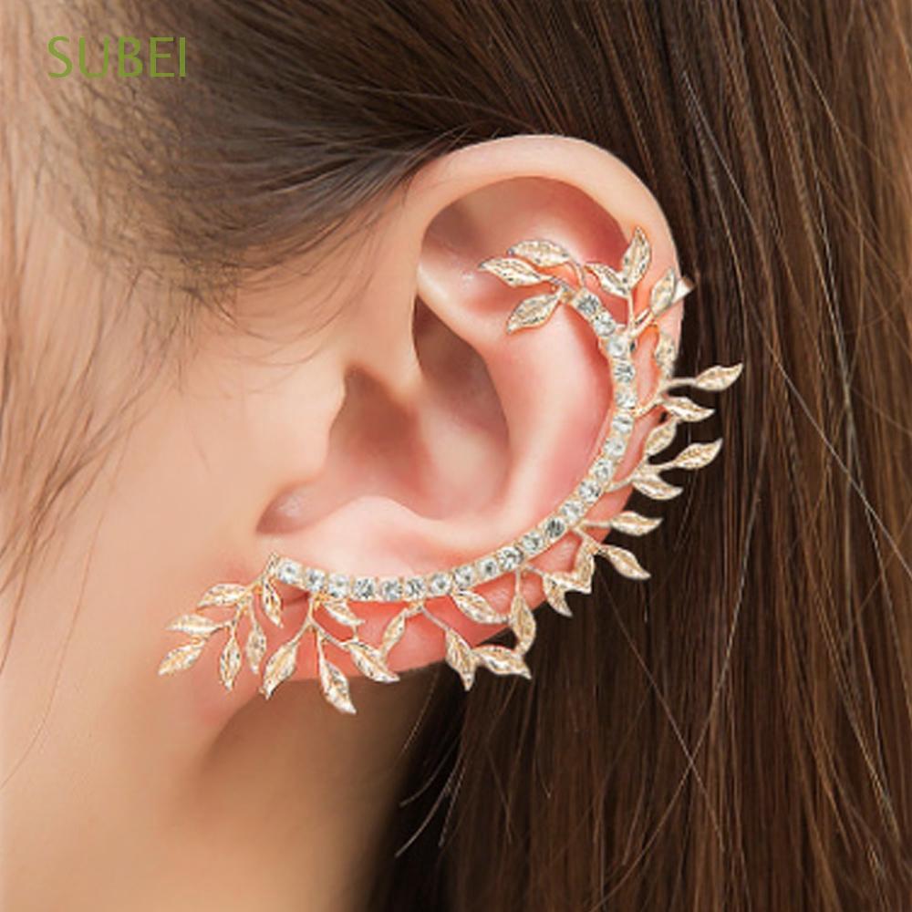 Fashion Punk Women Men Unisex Crystal Butterfly Ear Cuff Wrap Clip On Earring