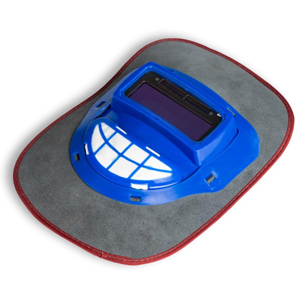 Leather Hood Darkening Welding Helmet Mask Filter Lens Cap Head Protector ❤