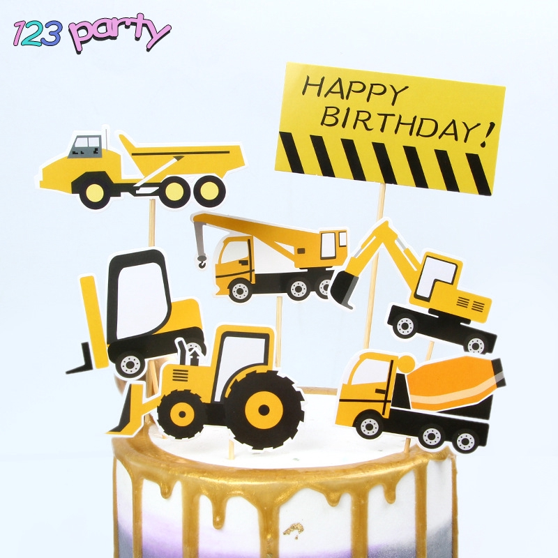 Cool Construction Car Children Birthday Cake Decoration Party Baking Funny Birthday Cards Online Eattedamsfinfo
