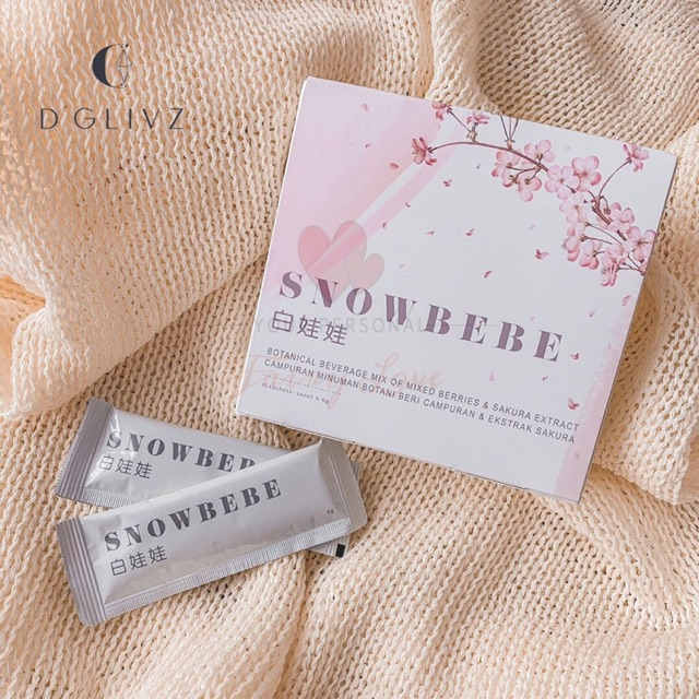 【Ready Stock 现货】💯D\'GLIVZ内服美白产品🍑白娃娃 SnowBeBe 🍑三个一个疗程✨健康喝出白、亮、滑🔥