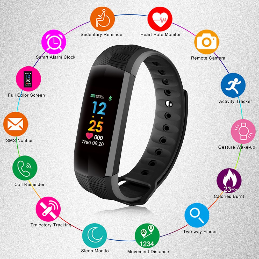 F1 Smart Bracelet Waterproof Heart Rate Blood Pressure Wristband Plus Original Color Screen Fitness Band Shopee Malaysia