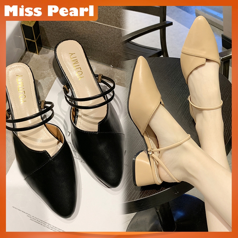 a79c933cfc4 Fashion Pointed Toe Shoes Women Korean Leather Sandals 35-40